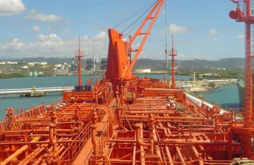 Chemical tanker deck area