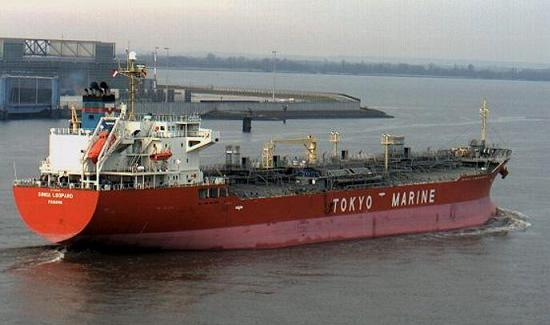 Chemical tanker ginga leopard at sea